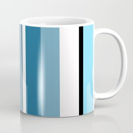 Blue white black stripes pattern Coffee Mug