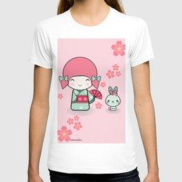 Kokeshi doll - Keiko e Usagi T-shirt