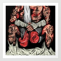 boxer Art Prints featuring Boxer by Ricca Design Co.