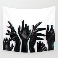 hands Wall Tapestries featuring Hands by Nasayousef