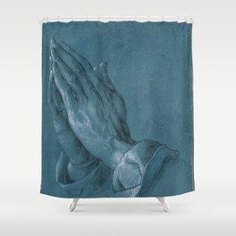 """""""Praying Hands"""" by Albrecht Dürer Shower Curtain"""