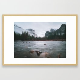Yosemite Valley View with Fog | Yosemite National Park, CA Framed Art Print