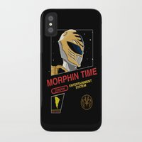 power rangers iPhone & iPod Cases featuring NES Power Rangers by IF ONLY