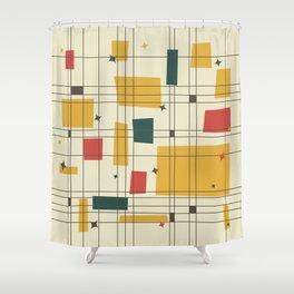 Mid-Century Modern (gold) Shower Curtain