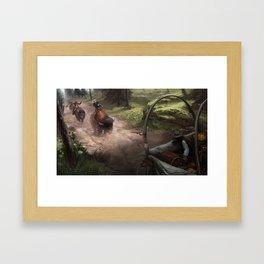 Buffalo Posse Framed Art Print