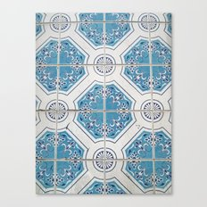 Porto Blue Tiles V Canvas Print