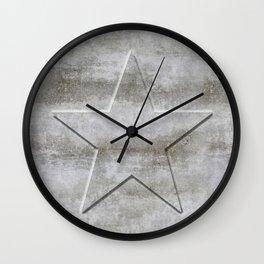 Solid Star in grey conrete Wall Clock