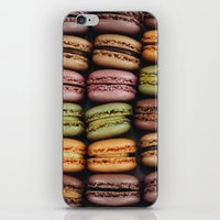 macarons iPhone & iPod Skins featuring Macarons by Sarah Kuszelewicz
