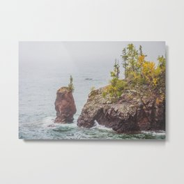 Sea Stack, Tettegouche State Park, Minnesota 4 Metal Print