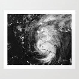 Hurricane Irma Infrared Image Art Print