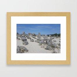 Stone forest Framed Art Print
