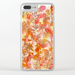 Leaves Texture 01 Clear iPhone Case