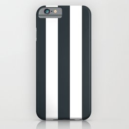 Gunmetal grey - solid color - white vertical lines pattern iPhone Case