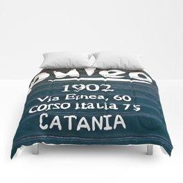 Via Etnea in Catania at the Isle of Sicily Comforters