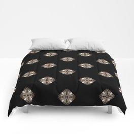 Simulated illuminated diamond pattern Comforters