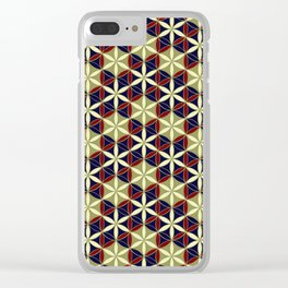 Flower of Life Pattern 11 Clear iPhone Case
