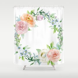 Flower wreath Shower Curtain