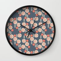 confetti Wall Clocks featuring confetti by jennifer judd-mcgee