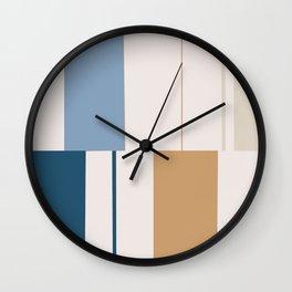 Mosaic Blue 1 Wall Clock