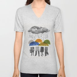 cloudy days for uppercase mag Unisex V-Neck