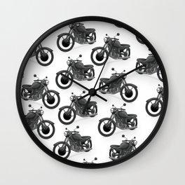 Motorbikes Wall Clock