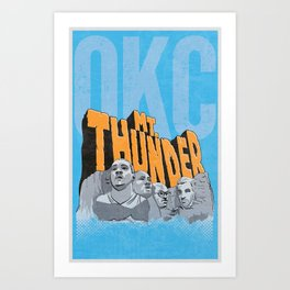 Mt. Thunder! Art Print