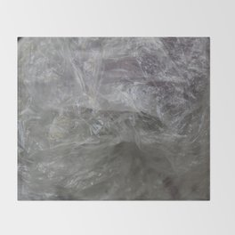 foil cloud wrinkle structured surface Throw Blanket