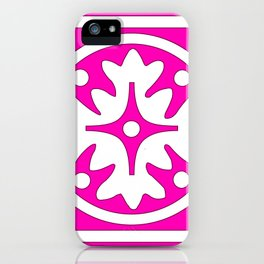 hot pink pattern iPhone Case