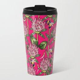 Red clover pattern Travel Mug