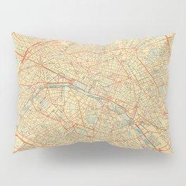 Paris Map Retro Pillow Sham