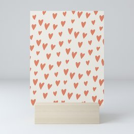 Hearts Hearts Hearts Mini Art Print