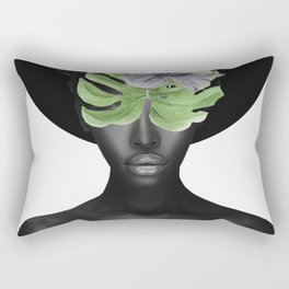 Tropical Girl Rectangular Pillow