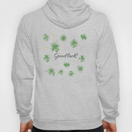 Four leaf clover design,good luck Hoody