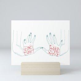 Sharp Hands Mini Art Print
