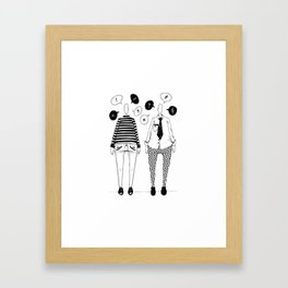 Little Talks Framed Art Print