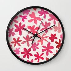 wildflowers 1 Wall Clock