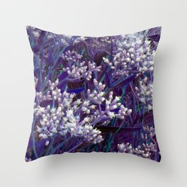Bunches of Tiny Flowers Throw Pillow