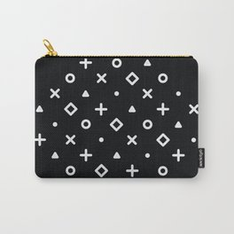 Diamond Pop Icons (White on Black) Carry-All Pouch