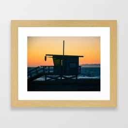 Sunset Tower Framed Art Print
