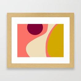 abstract composition 2 - modern blush pink Framed Art Print