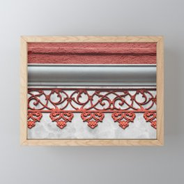 Coral Pink Wrought Iron Trim Framed Mini Art Print