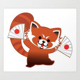 Red panda cute Art Print