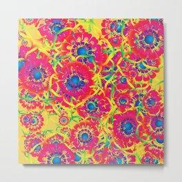 Colorful floral artwork Metal Print