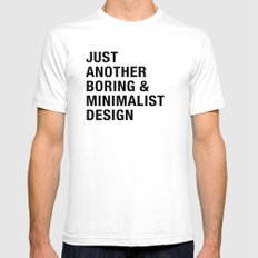 Boring and Minimalist SMALL Mens Fitted Tee White