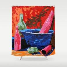 Still life collage Shower Curtain