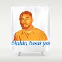 channel Shower Curtains featuring Channel Orange by Grace Teaney Art