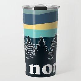 up north, teal & yellow Travel Mug
