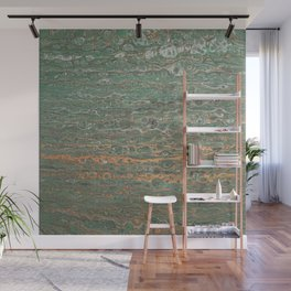 fluid coppered teal Wall Mural
