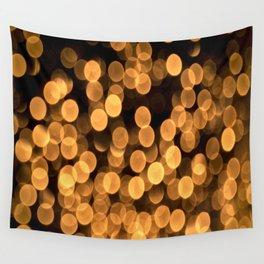 Golden Bokeh Light On A Black Background #decor #society6 Wall Tapestry
