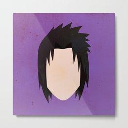 Sasuke Uchiha Simplistic Face Metal Print